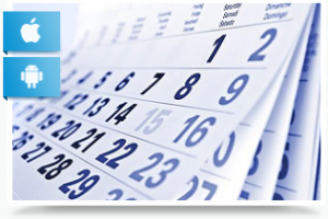 calendar and contacts monitoring
